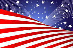 Fourth of July banner. A  illustration of a Fourth of July banner Stock Photography