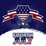 Fourth July Banner Stock Photo