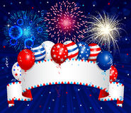 Fourth of july banner Royalty Free Stock Image