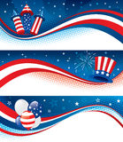 Fourth of july banners Stock Image