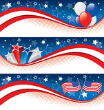 Fourth of july banners Royalty Free Stock Images