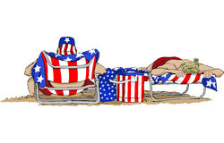 Fourth of July At the Beach Royalty Free Stock Image