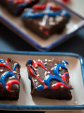 Fourth of July Brownies Stock Photo
