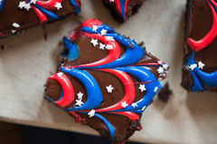 Fourth of July Brownies Royalty Free Stock Photo