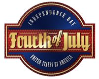 Fourth of july brushed metal sign. Vintage fourth of July tin sign art retro style independence day united states of America brushed metal gold silver vector illustration