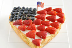 Fourth of July Cake Stock Images