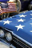 Fourth of July Car hood in Par Stock Photos
