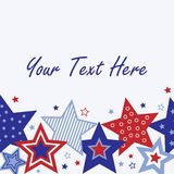 Fourth of July Card Royalty Free Stock Photos