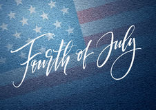Fourth of July celebration banner, greeting card design. Happy independence day of United States of America hand Stock Photography