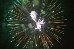 Fourth of July celebration with fireworks exploding, Independence Day, Ojai, California Stock Photo