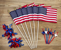 Fourth of July Celebration Items for the Holiday Royalty Free Stock Photos