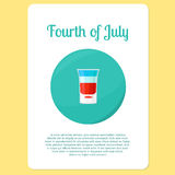 Fourth of July cocktail sticker Stock Photos