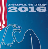 Fourth of july 2016 royalty free illustration