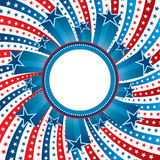 Fourth of july copy space circle Stock Photography