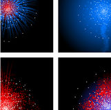 Fourth of July corners Stock Photos