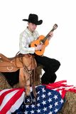 Fourth of july, cowboy Stock Photography