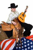 Fourth of july, cowboy Stock Image