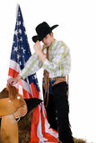 Fourth of july, cowboy Royalty Free Stock Photography