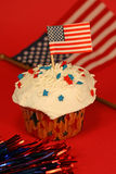 Fourth of July Cupcake Royalty Free Stock Image