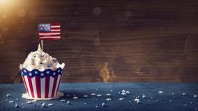 Fourth of July Cupcakes royalty free stock image