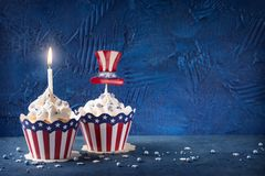 Fourth of July Cupcakes stock image
