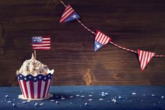 Fourth of July Cupcakes. Patriotic Fourth of July Cupcakes stock photography