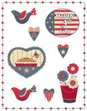 Fourth of July Decorative Set Royalty Free Stock Images