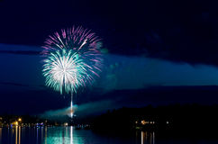 Fourth of July on East Gull Lake stock photo