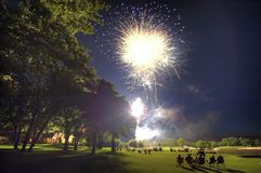 Fourth  of July Edmond Oklahoma on a golf course Royalty Free Stock Photography