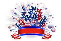 Fourth of July Firewoks Royalty Free Stock Photo