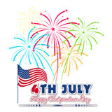 Fourth of July with firework Background Royalty Free Stock Photography