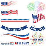 Fourth of July with firework Background Royalty Free Stock Photos
