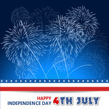 Fourth of July with firework Background Royalty Free Stock Images