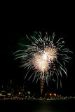Fourth of July fireworks. Over Lake Coeur D Alene Stock Images