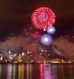 Fourth of July fireworks. In New York City Stock Images