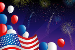 Fourth of July fireworks. A vector illustration of Fourth of July fireworks celebration Stock Photos