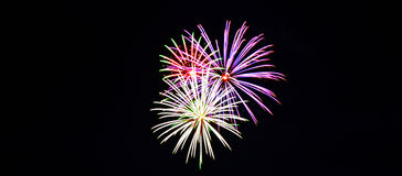 Fourth of July Fireworks. Celebration July 3, 2015 at Alturas, Calfornia stock photo