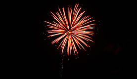 Fourth of July Fireworks. Celebration July 3, 2015 at Alturas, Calfornia royalty free stock photo
