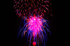 Fourth of July Fireworks. Celebration July 3, 2015 at Alturas, Calfornia Royalty Free Stock Photography