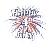 Fourth of July Fireworks. Happy 4th of July clip art with red and blue firework. Eps10 Stock Photography