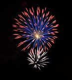 Fourth of July Fireworks. This image was taken on the 4th of July in Colorado Springs, CO Royalty Free Stock Image