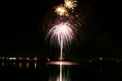 Fourth of July Fireworks in 2008,  Klamath County Stock Photography