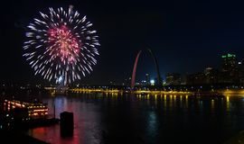 Fourth of July Fireworks Saint Louis Stock Image