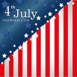 Fourth july flag Stock Photos