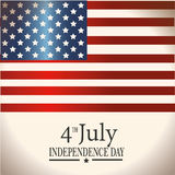 Fourth july flag Stock Image
