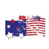 Fourth of July. Fourth of July celebration simple illustration. USA independence day. America freedom. Royalty Free Stock Photography