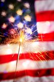 Fourth of july. Sparkler pyrotechnics july patriotism flag american culture stock images
