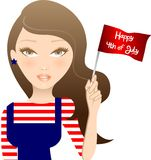 Fourth of July Girl Royalty Free Stock Photos