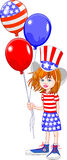 Fourth of July Girl Royalty Free Stock Image