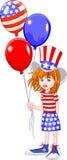 Fourth of July Girl royalty free illustration